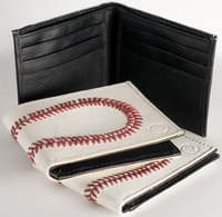 Real Baseball Leather  Wallet